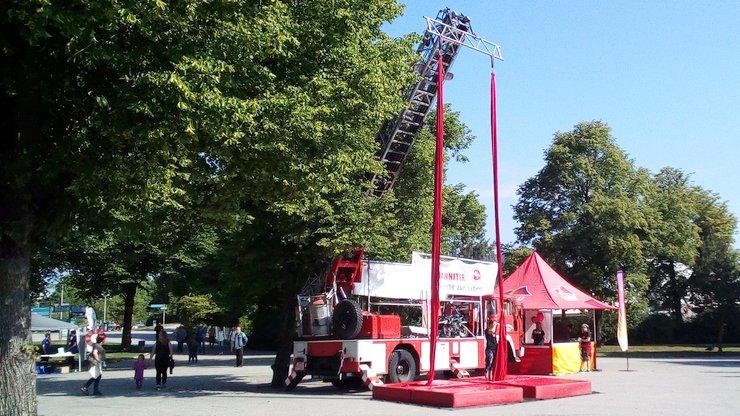 Feuerwehrwagen Tontechnik Bühnenverleih Vermietung München